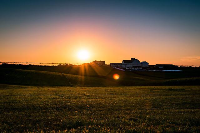 Amish-Farm-Sunset