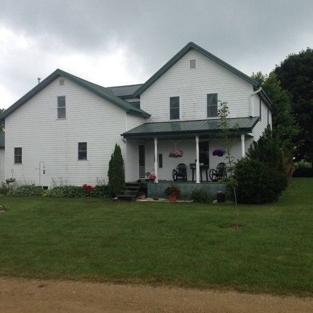 A typical Amish home