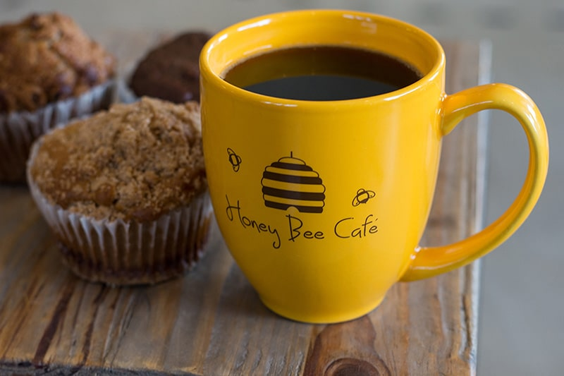 honey-bee-cafe-coffee-muffin